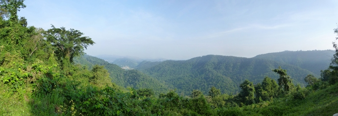 Panoramic from the view point in the park. Reminded us of the smokey mountains.