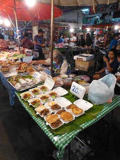 Night markets are cheap and offer lots of yummy food.