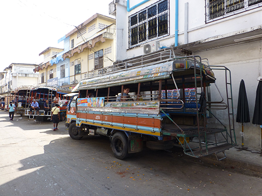 The truck we took to the silk village.