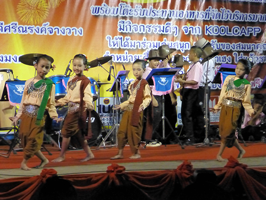 Traditional Thai dancing by 6 year olds.