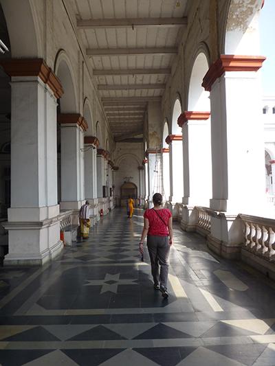 Museum hallway.
