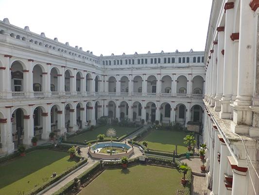 Museum courtyard.