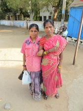 In Hospet, walking to catch the bus that would take us to Hampi, these ladies asked us to take their photo.