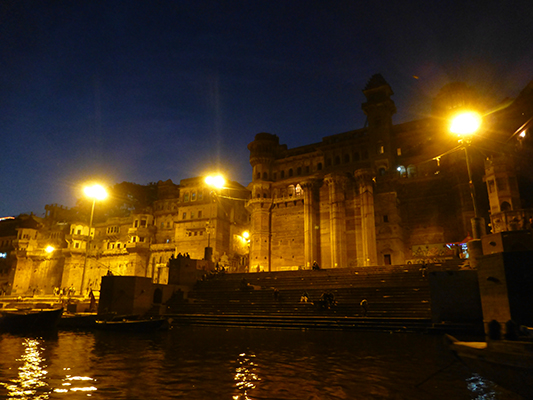 One of the Ghats we saw during our evening boat ride.
