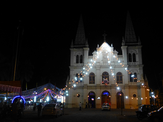 One of several Christian churches in Fort Kochi. The Christian population in India is largest in the south.