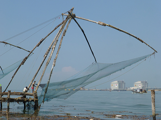 "The ""Chinese Fishing Nets"" are very large and take a couple of guys to operate."