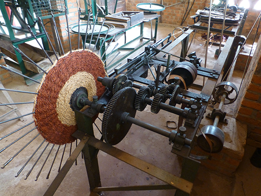 Coir weaving machine.