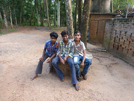 The boy on the far right was the one who helped us with the dorms. His name is Sudeen.