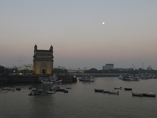 Dusk shot of the Gateway of India.