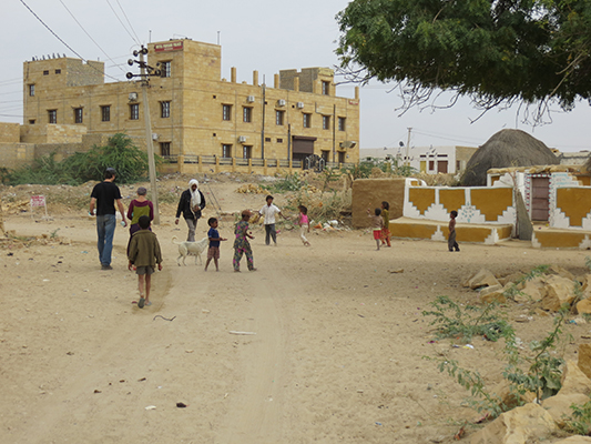 Kids playing in the little village of Khuri.