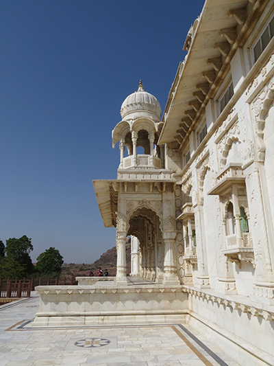 Front of the Jaswant Thada mausoleum.
