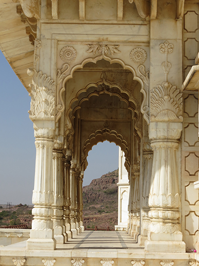 Front of the Jaswant Thada mausoleum