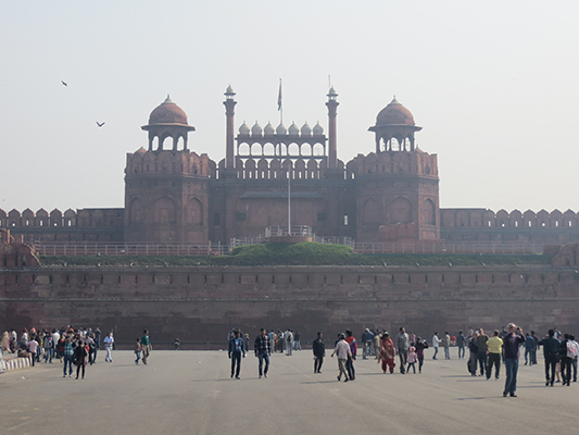 Shot from outside the gates of this Fort on a very hazy day.
