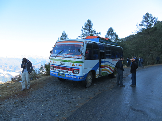 The mini-bus that took us from Kathmandu to Syafru Bensi.