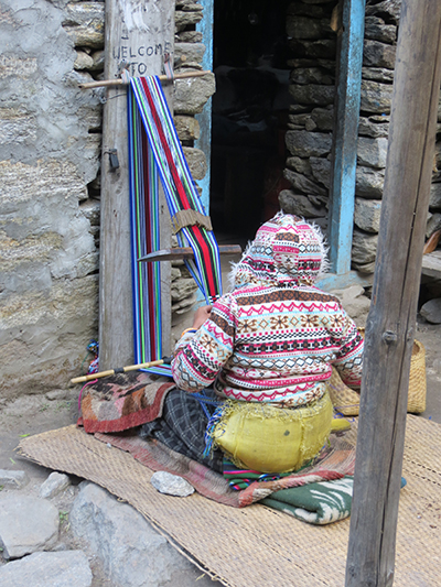 Some of the guesthouses make handy crafts to sell as another source of revenue.
