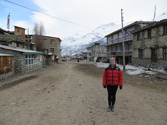 Large streets of Manang.