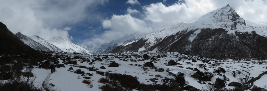 Hiking in the Langtang Valley in Nepal.