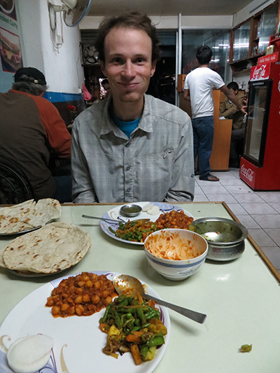 Our last dinner in Nepal. A nice Indian restaurant we frequented.