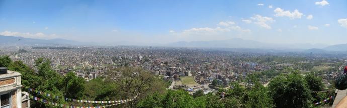 Panoramic of Kathmandu