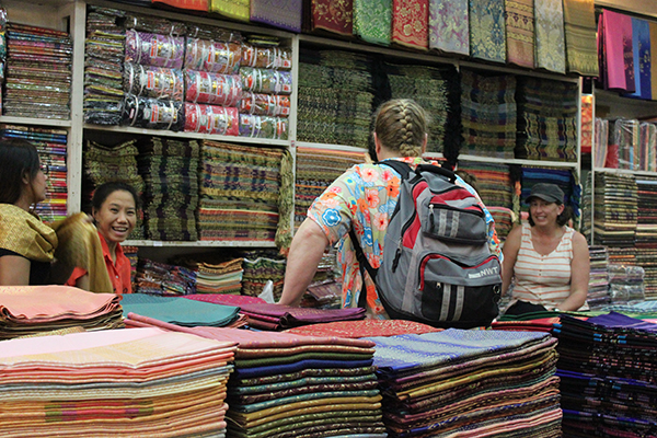 Shop where Abby purchased some beautiful textiles.